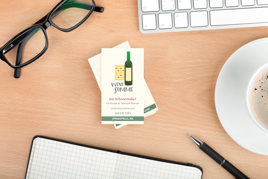 Our Portfolio: Wine Somme Business Card and Logo Design